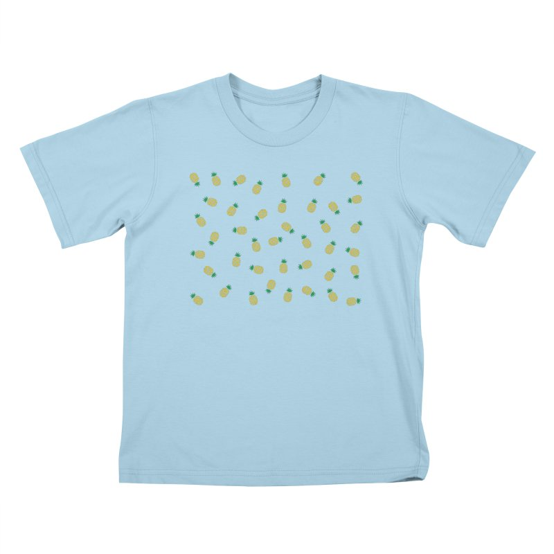 Pineapples Everywhere Kids T-Shirt by Boshik's Tshirt Shop