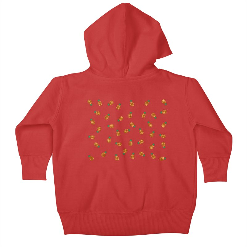 Pineapples Everywhere Kids Baby Zip-Up Hoody by Boshik's Tshirt Shop