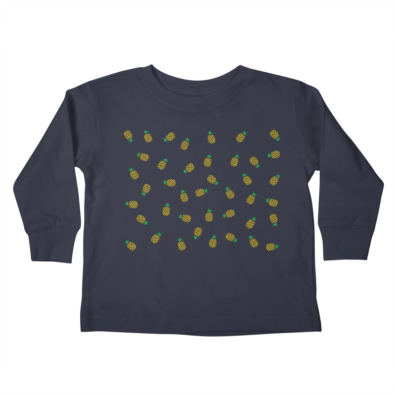 Pineapples Everywhere Kids Toddler Longsleeve T-Shirt by Boshik's Tshirt Shop