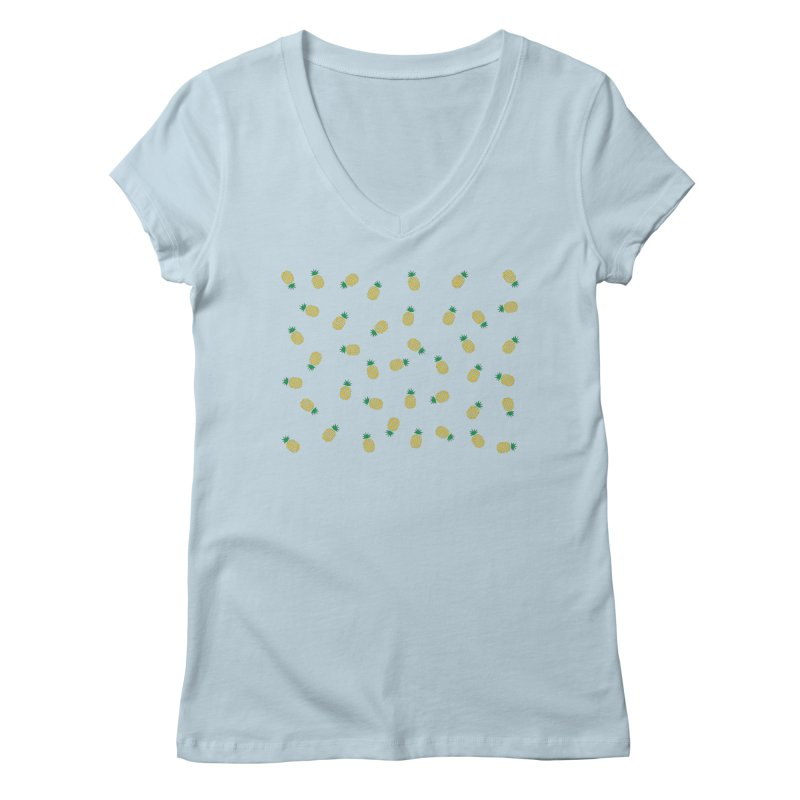 Pineapples Everywhere Women's Regular V-Neck by Boshik's Tshirt Shop