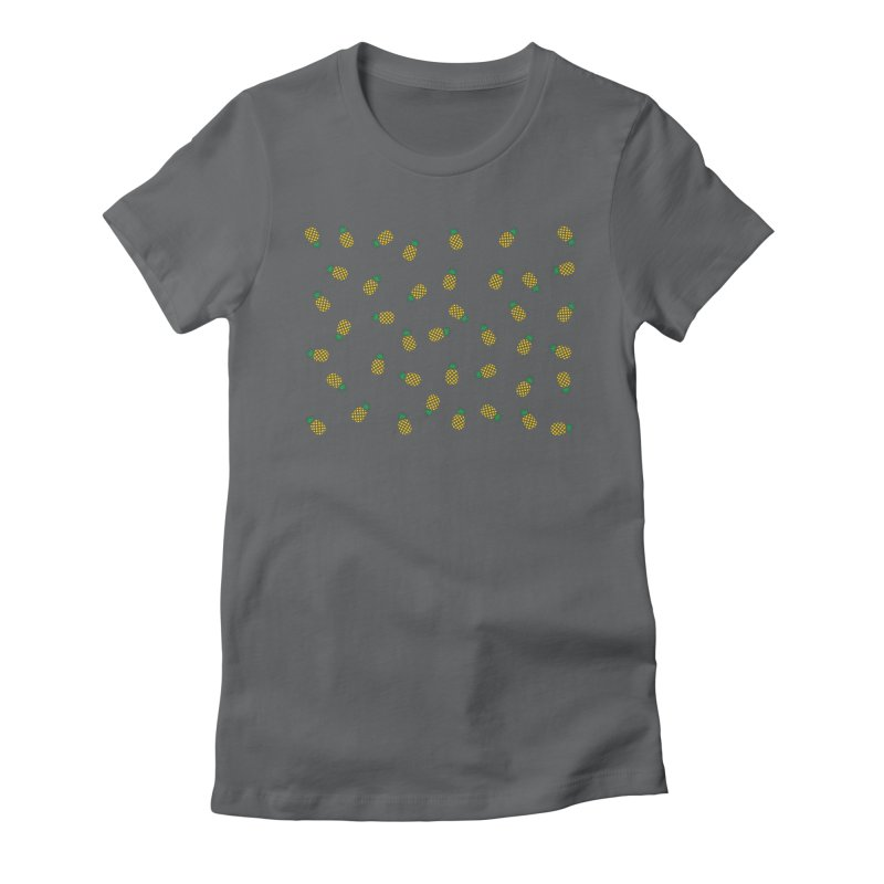 Pineapples Everywhere Women's Fitted T-Shirt by Boshik's Tshirt Shop