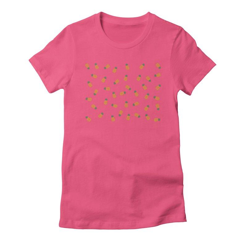Pineapples Everywhere Women's T-Shirt by Boshik's Tshirt Shop