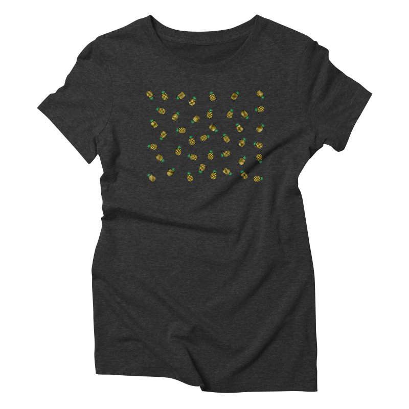 Pineapples Everywhere Women's Triblend T-Shirt by Boshik's Tshirt Shop