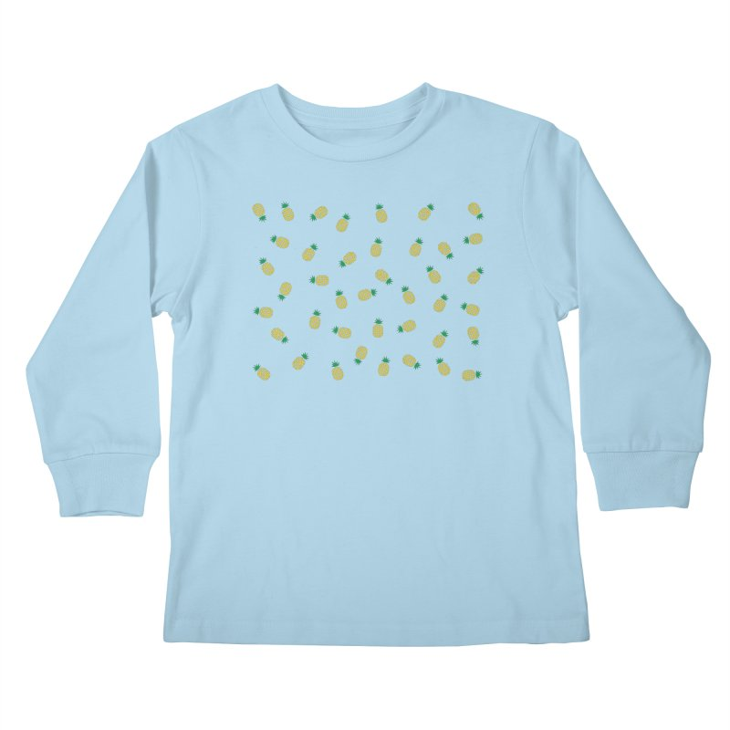 Pineapples Everywhere Kids Longsleeve T-Shirt by Boshik's Tshirt Shop