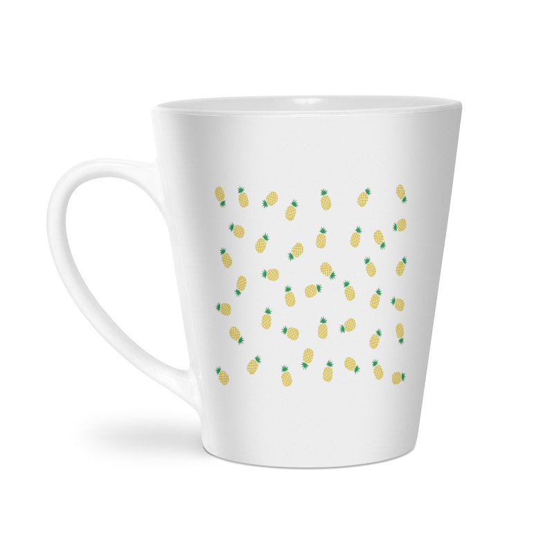 Pineapples Everywhere Accessories Latte Mug by Boshik's Tshirt Shop