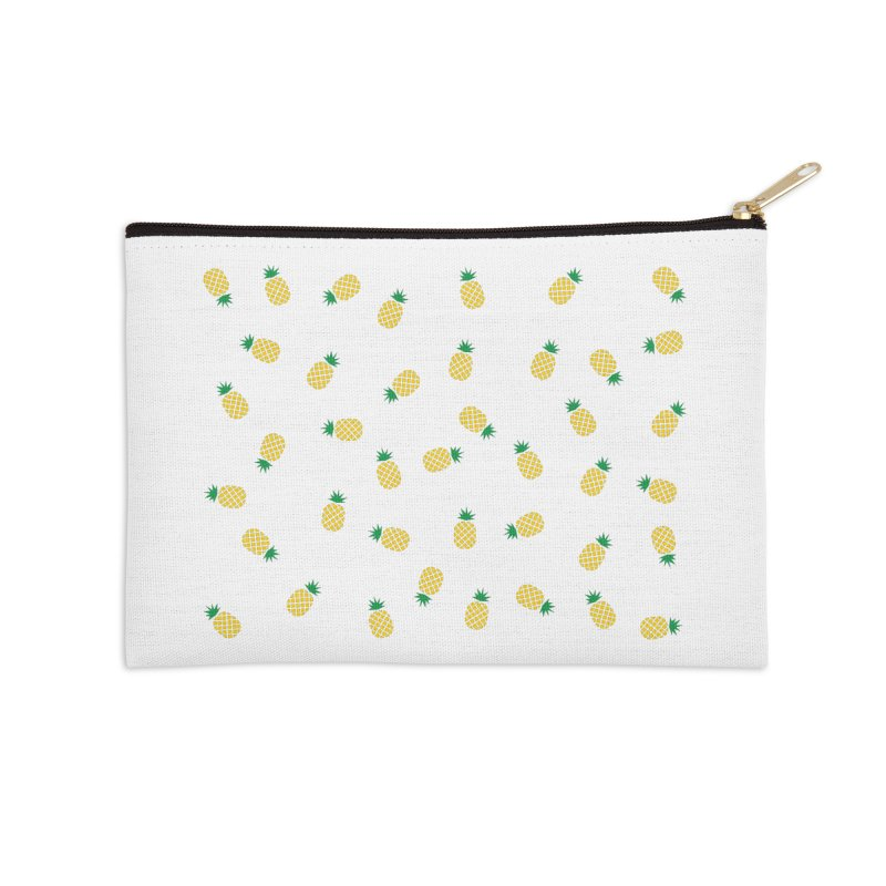 Pineapples Everywhere Accessories Zip Pouch by Boshik's Tshirt Shop