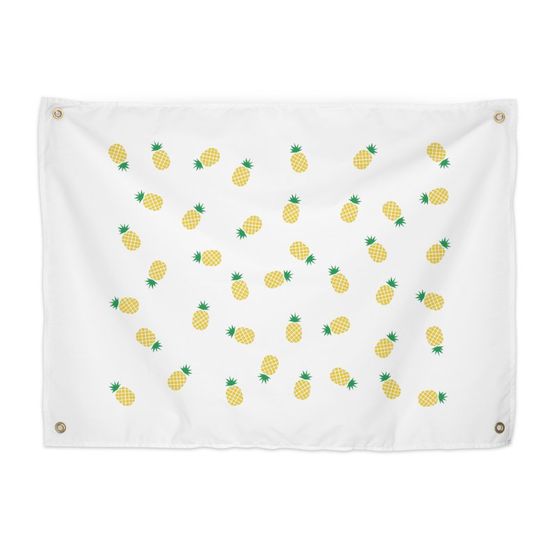 Pineapples Everywhere Home Tapestry by Boshik's Tshirt Shop