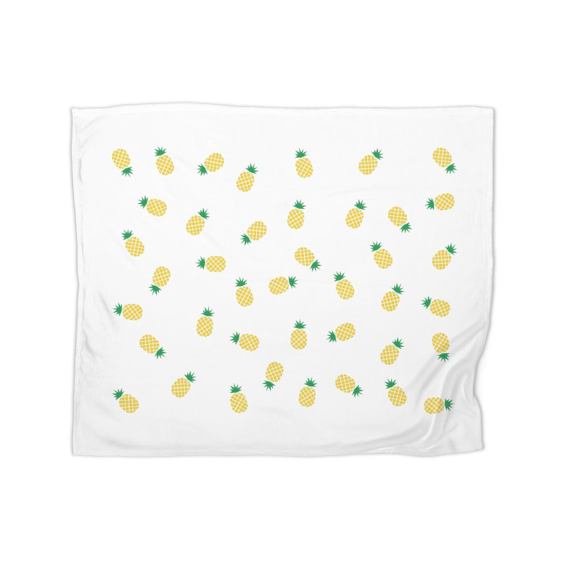 Pineapples Everywhere Home Blanket by Boshik's Tshirt Shop