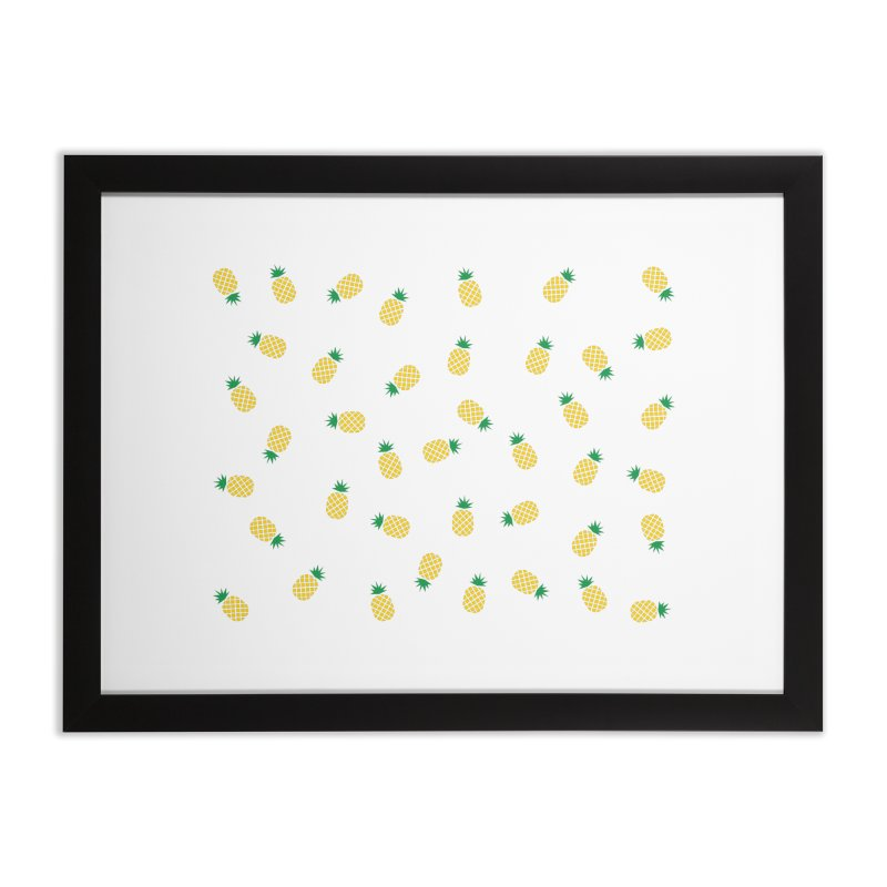 Pineapples Everywhere Home Framed Fine Art Print by Boshik's Tshirt Shop