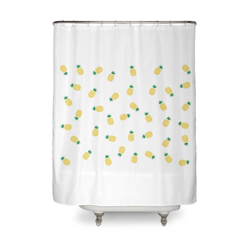 Pineapples Everywhere Home Shower Curtain by Boshik's Tshirt Shop
