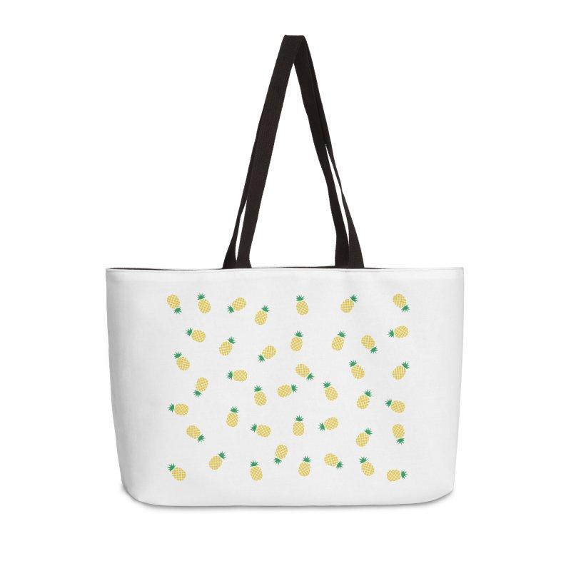 Pineapples Everywhere Accessories Weekender Bag Bag by Boshik's Tshirt Shop