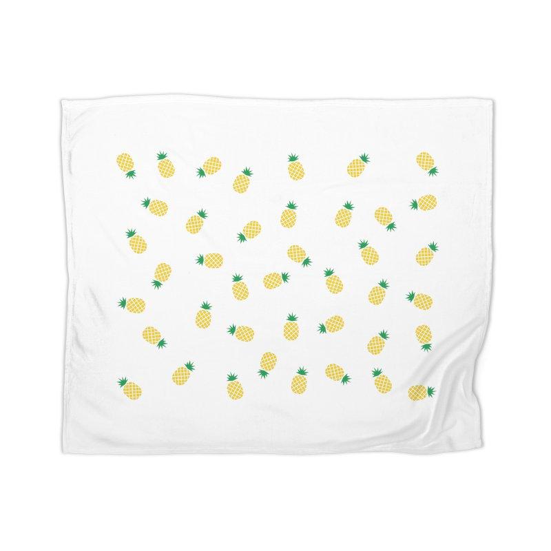 Pineapples Everywhere Home Blanket by Boshik's Tshirt Shop