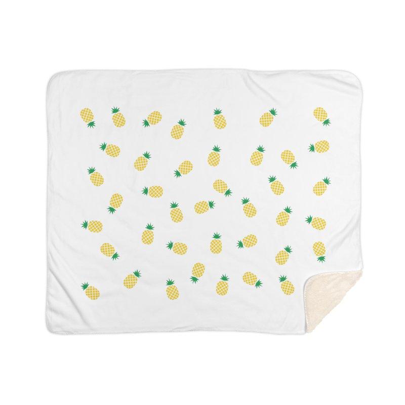 Pineapples Everywhere Home Sherpa Blanket Blanket by Boshik's Tshirt Shop