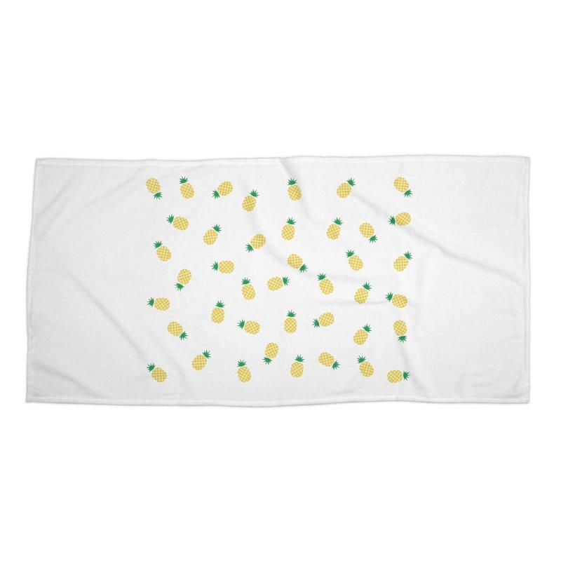 Pineapples Everywhere Accessories Beach Towel by Boshik's Tshirt Shop