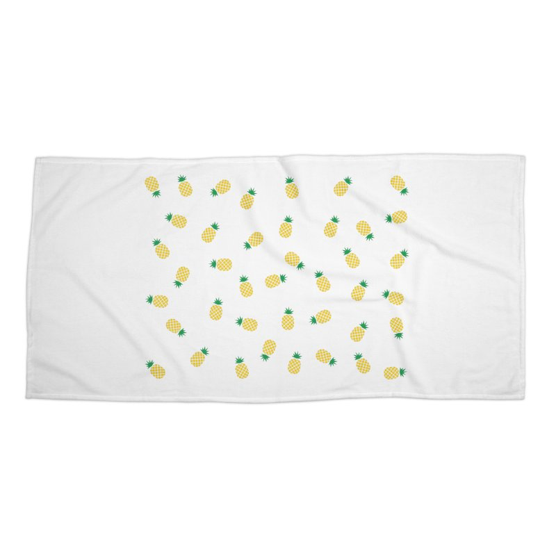 Pineapples Everywhere Accessories Beach Towel by Boshik's Tshirt Shop
