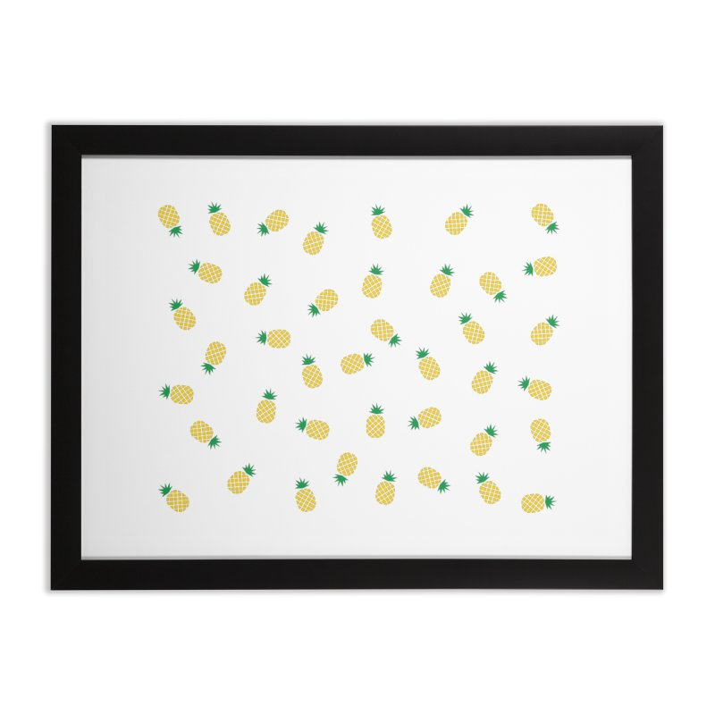 Pineapples Everywhere Home Framed Fine Art Print by Boshik's Tshirt Shop