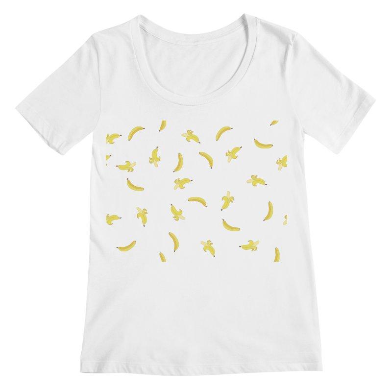 Banananas Women's Regular Scoop Neck by Boshik's Tshirt Shop
