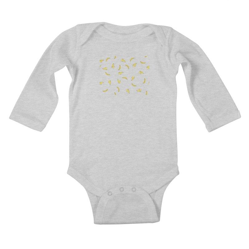 Banananas Kids Baby Longsleeve Bodysuit by Boshik's Tshirt Shop