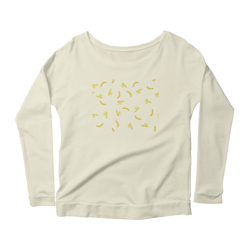 Banananas Women's Scoop Neck Longsleeve T-Shirt by Boshik's Tshirt Shop