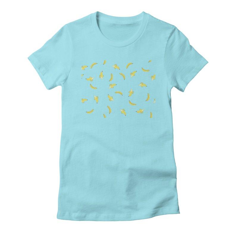 Banananas Women's Fitted T-Shirt by Boshik's Tshirt Shop