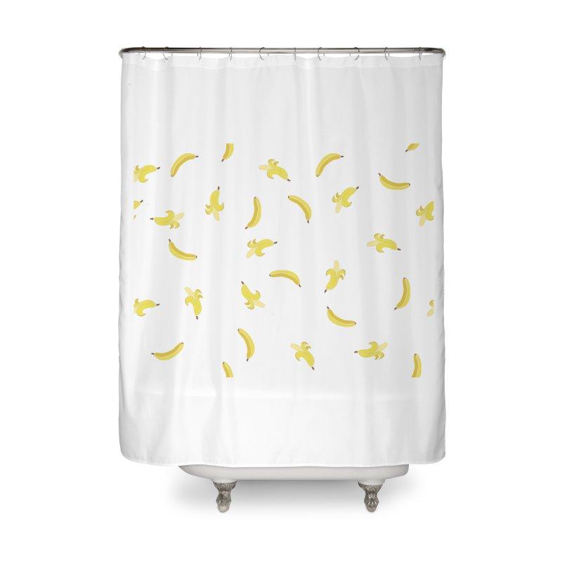 Banananas Home Shower Curtain by Boshik's Tshirt Shop