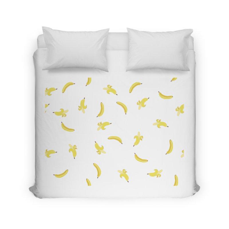 Banananas Home Duvet by Boshik's Tshirt Shop
