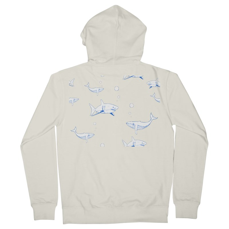 Underwater Love Men's French Terry Zip-Up Hoody by Boshik's Tshirt Shop