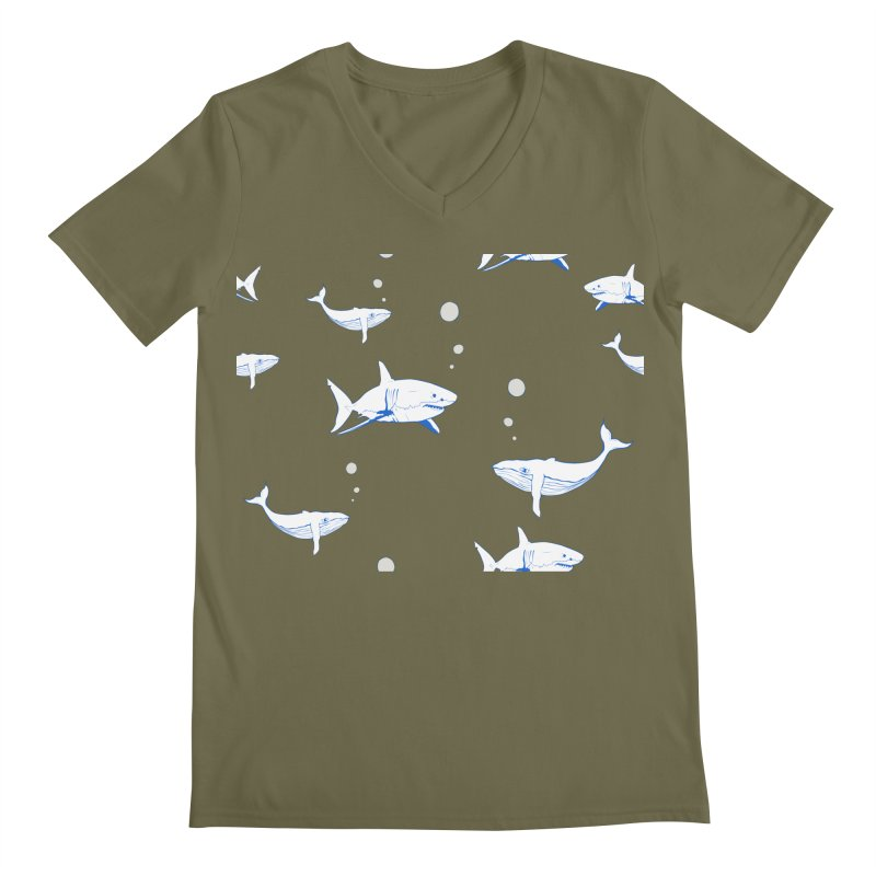 Underwater Love Men's Regular V-Neck by Boshik's Tshirt Shop