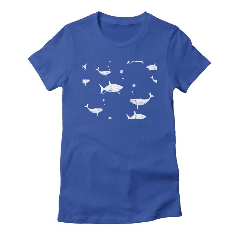 Underwater Love Women's Fitted T-Shirt by Boshik's Tshirt Shop