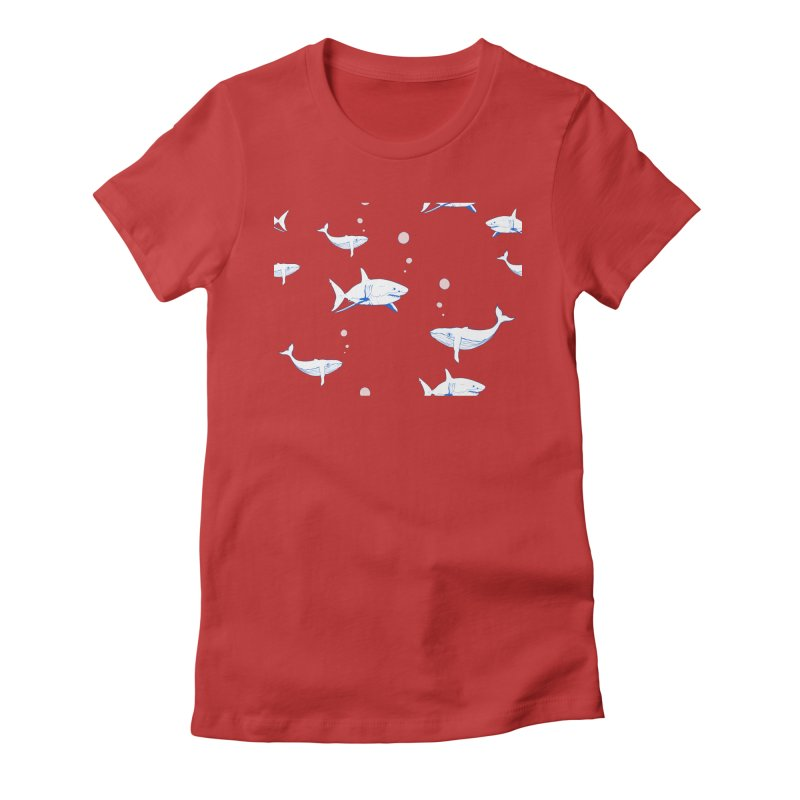 Underwater Love Women's Fitted T-Shirt by Boshik's Tshirt Shop