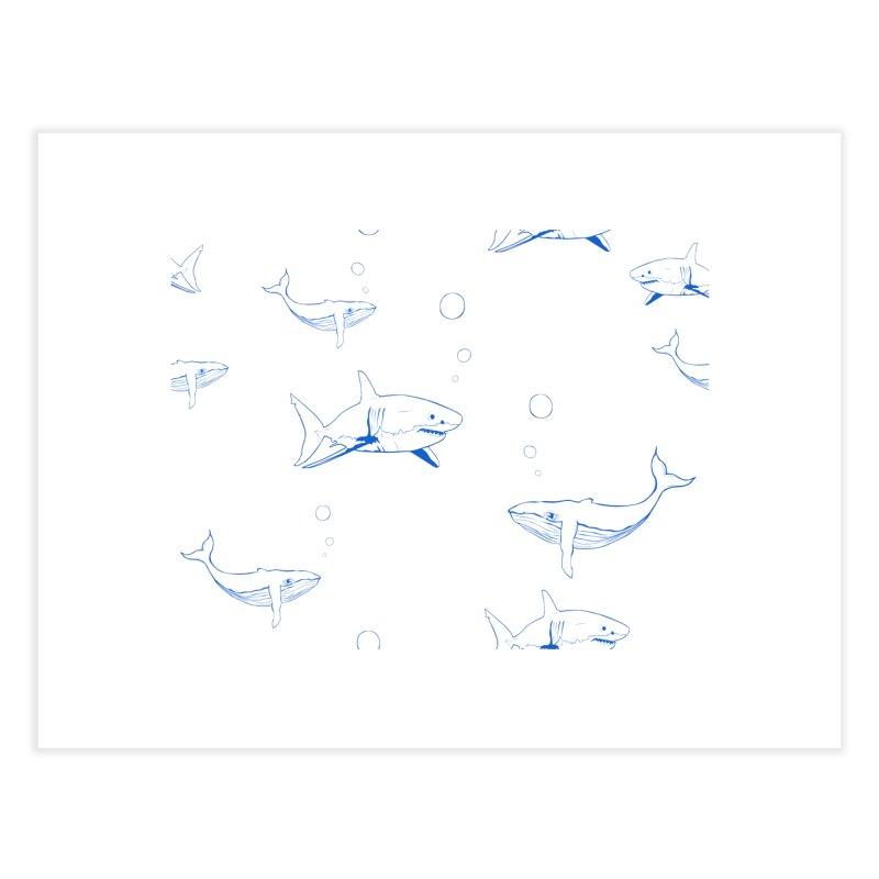 Underwater Love Home Fine Art Print by Boshik's Tshirt Shop