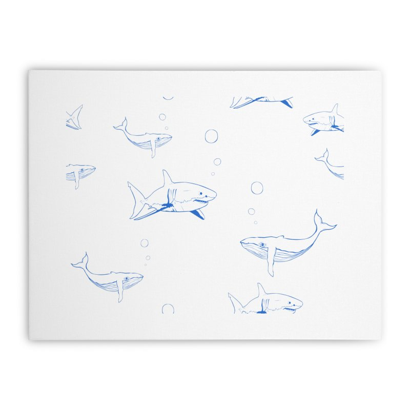 Underwater Love Home Stretched Canvas by Boshik's Tshirt Shop