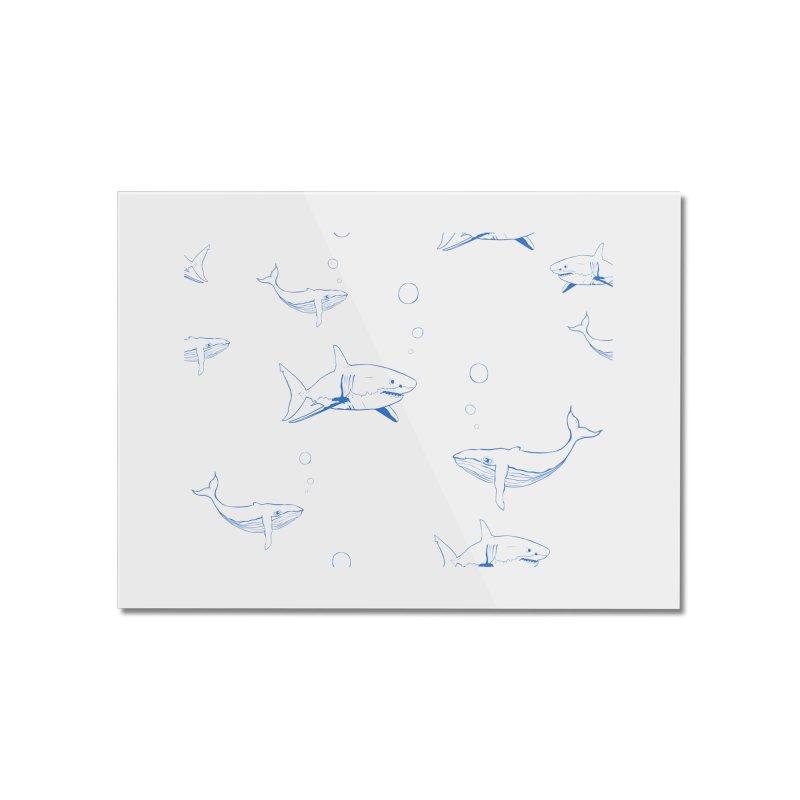 Underwater Love Home Mounted Acrylic Print by Boshik's Tshirt Shop