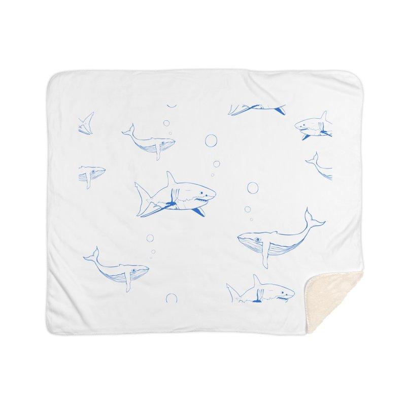 Underwater Love Home Sherpa Blanket Blanket by Boshik's Tshirt Shop