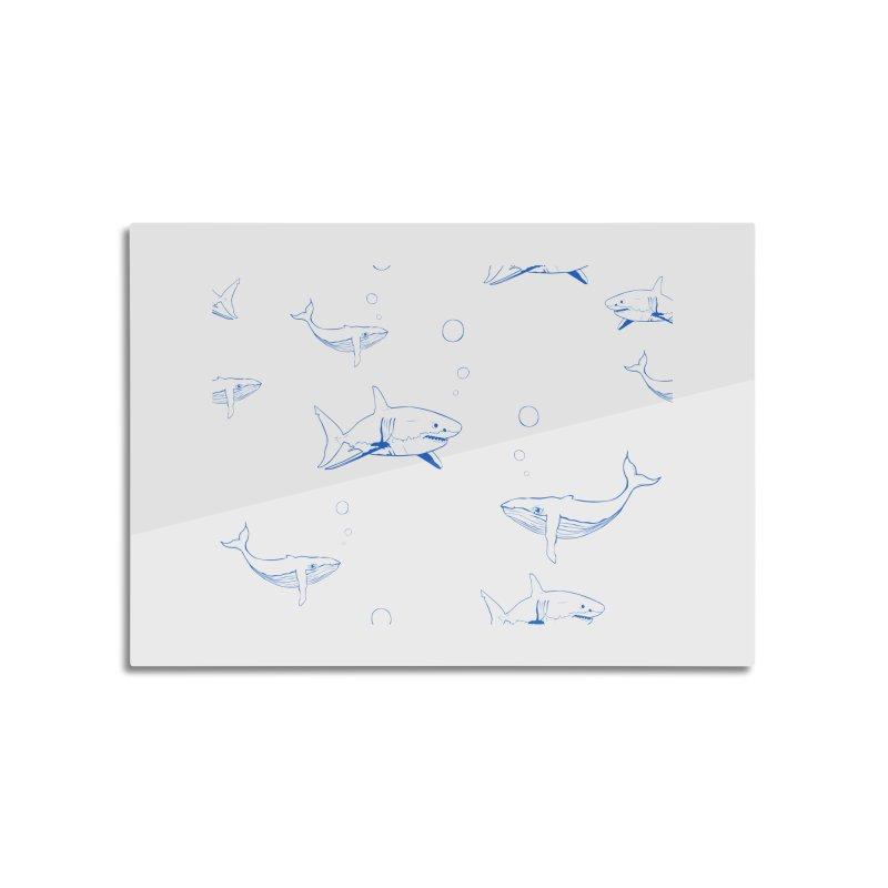 Underwater Love Home Mounted Aluminum Print by Boshik's Tshirt Shop