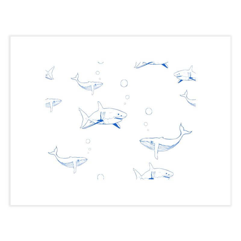Underwater Love Home Fine Art Print by Boshik's Tshirt Shop