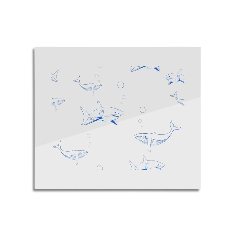 Underwater Love Home Mounted Aluminum Print by Boshik's Tshirt Shop