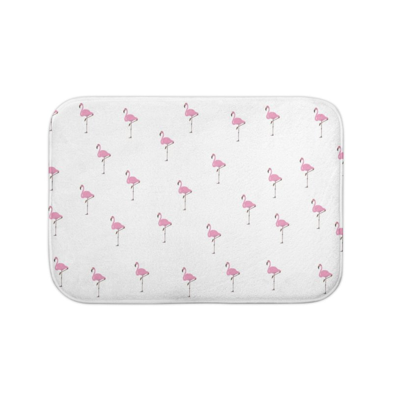 Flamingos Home Bath Mat by Boshik's Tshirt Shop