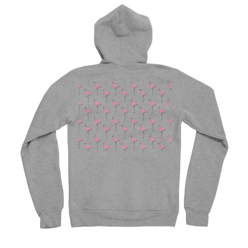 Flamingos Men's Sponge Fleece Zip-Up Hoody by Boshik's Tshirt Shop