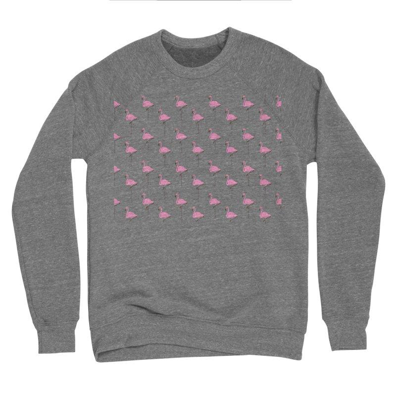 Flamingos Men's Sponge Fleece Sweatshirt by Boshik's Tshirt Shop