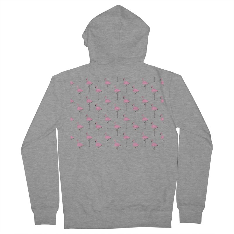 Flamingos Women's French Terry Zip-Up Hoody by Boshik's Tshirt Shop