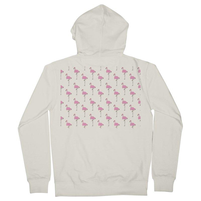 Flamingos Men's French Terry Zip-Up Hoody by Boshik's Tshirt Shop