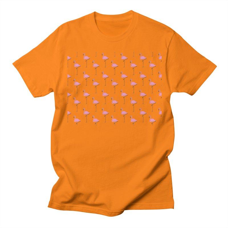 Flamingos Women's Regular Unisex T-Shirt by Boshik's Tshirt Shop