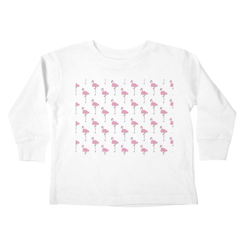 Flamingos Kids Toddler Longsleeve T-Shirt by Boshik's Tshirt Shop