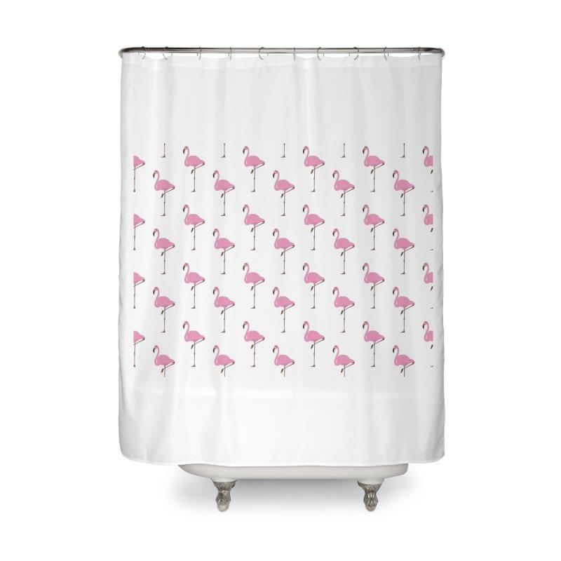 Flamingos Home Shower Curtain by Boshik's Tshirt Shop