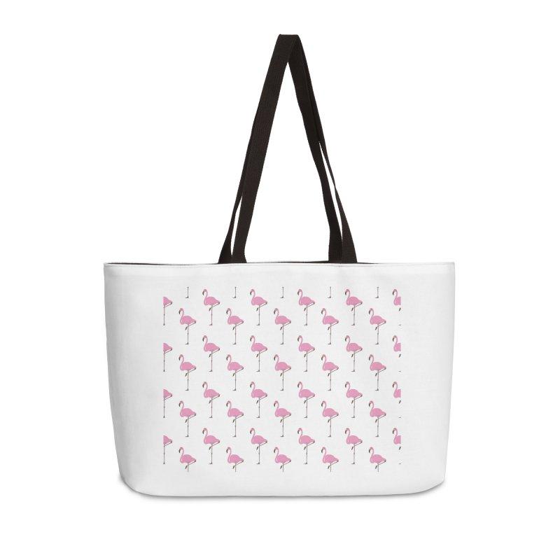 Flamingos Accessories Weekender Bag Bag by Boshik's Tshirt Shop