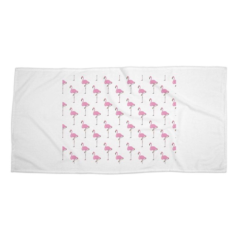 Flamingos Accessories Beach Towel by Boshik's Tshirt Shop