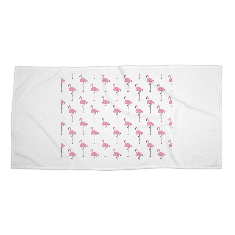 Flamingos Accessories Beach Towel by Boshik's Tshirt Shop