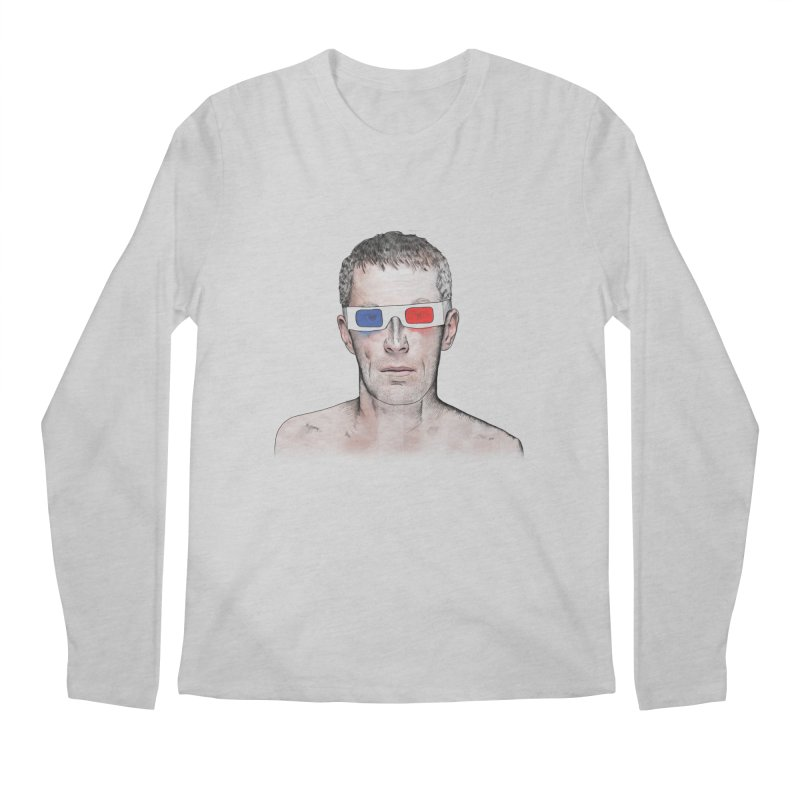 3D dude Men's Regular Longsleeve T-Shirt by Boshik's Tshirt Shop