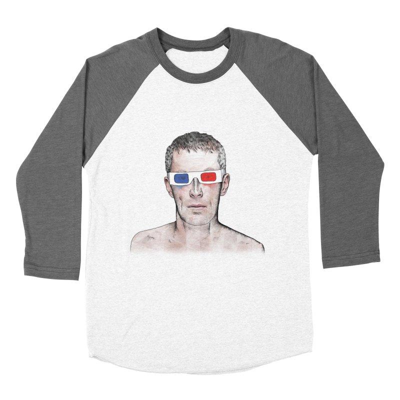 3D dude Women's Baseball Triblend Longsleeve T-Shirt by Boshik's Tshirt Shop